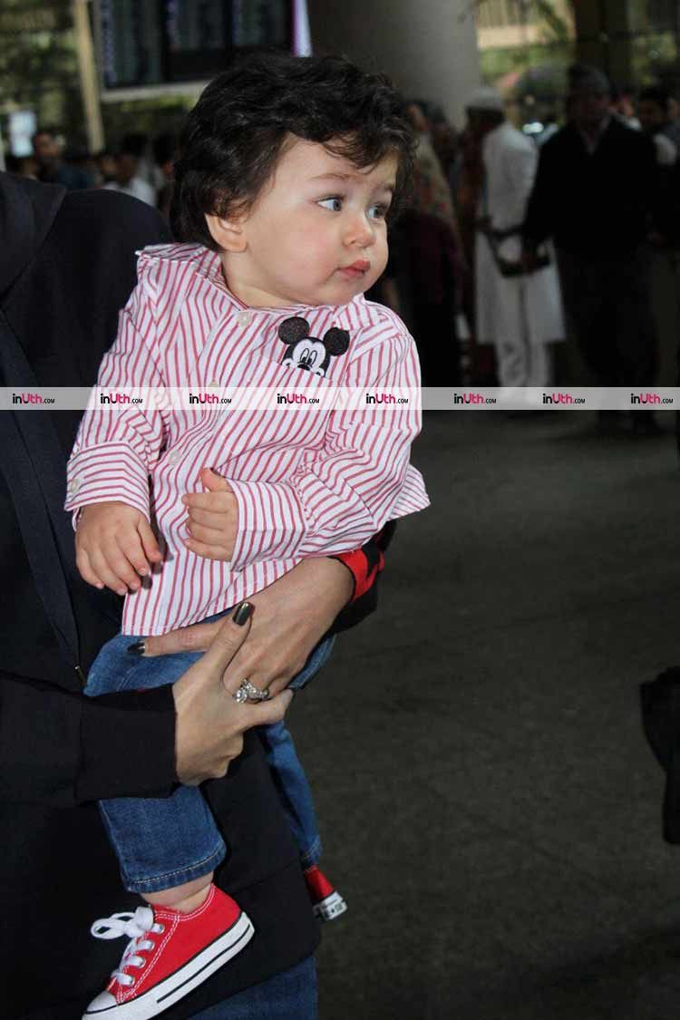 Taimur is looking mushy cute in this pic from the airport taken on January 8
