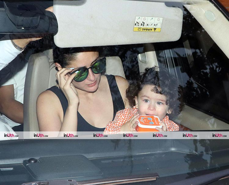 Taimur snapped outside Amrita Arora's house on March 22, 2018