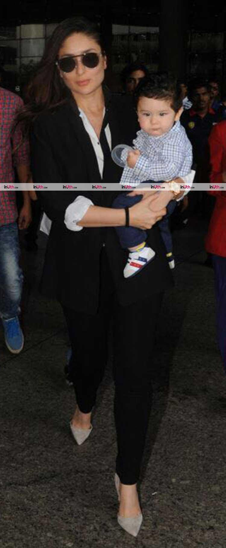 Taimur was busy being adorable on Mumbai airport last night