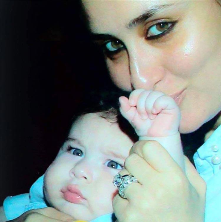 Taimur with mother Kareena Kapoor Khan