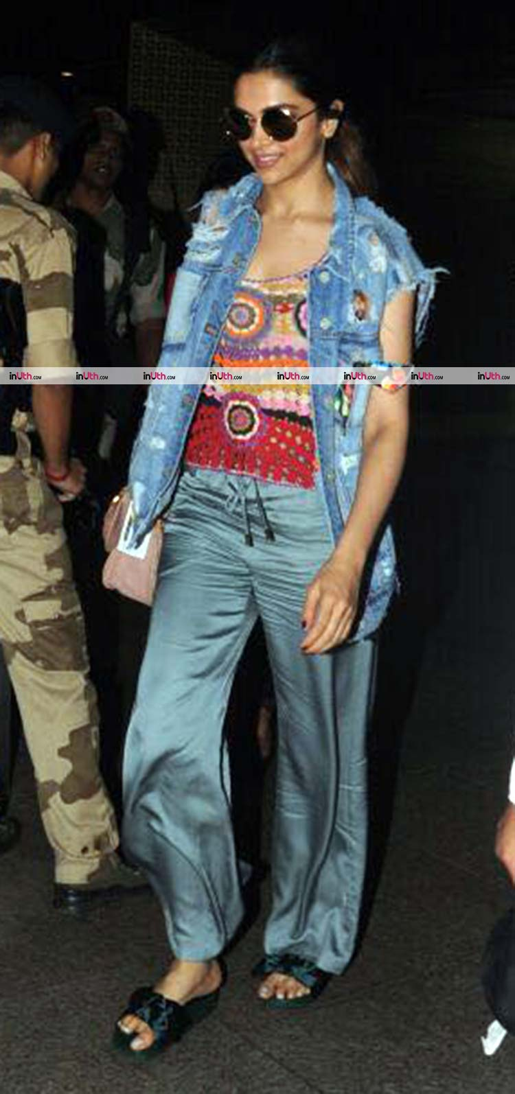 Deepika Padukone goes quirky with her airport look
