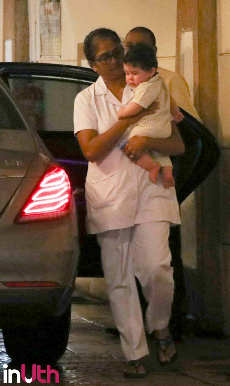 Kareena Kapoor's son Taimur spotted on an outing