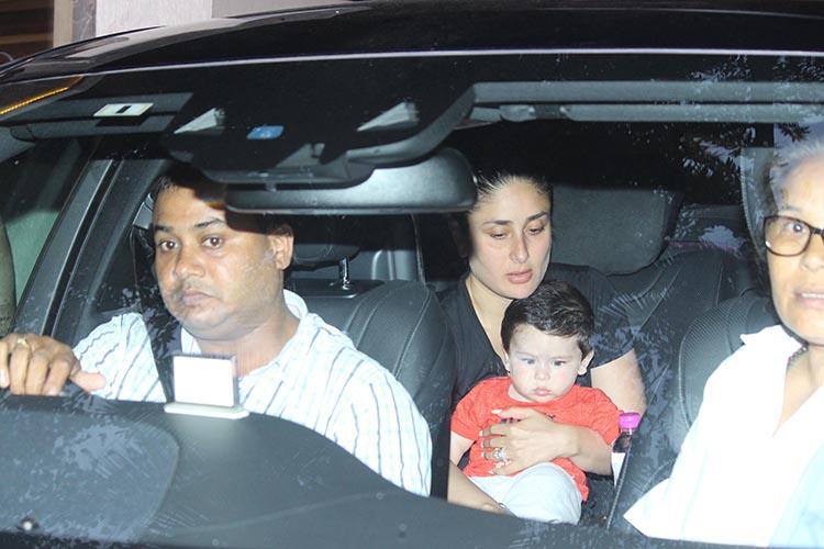 Taimur Ali Khan shares a ride with mother Kareena Kapoor