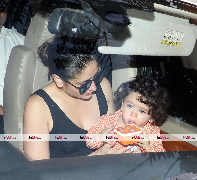 Taimur and Kareena Kapoor snapped on March 22, 2018