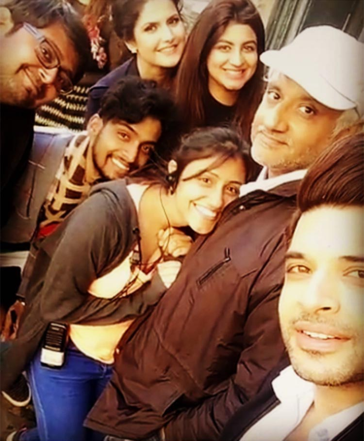 The team of 1921 shooting in London with Vikram Bhatt