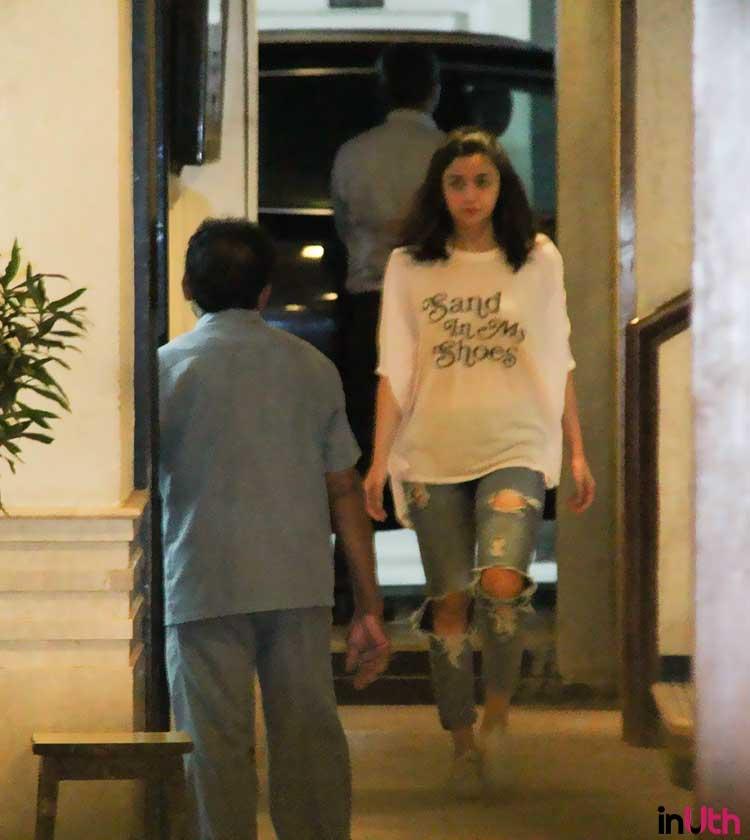 Alia Bhatt at Sidharth Malhotra's residence