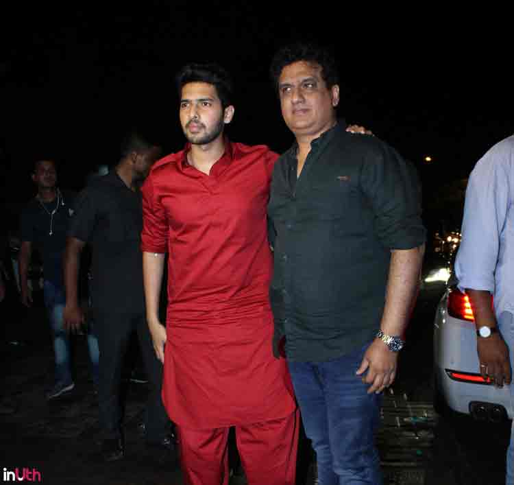 Armaan Malik with father Daboo Malik at Salman Khan's Eid party