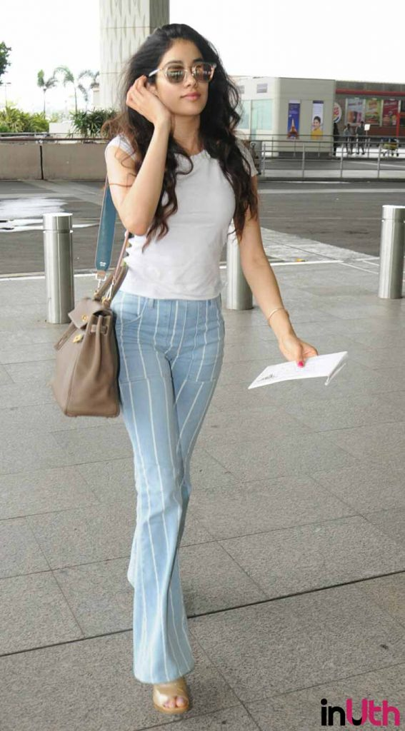 Jhanvi Kapoor slaying in her airport look