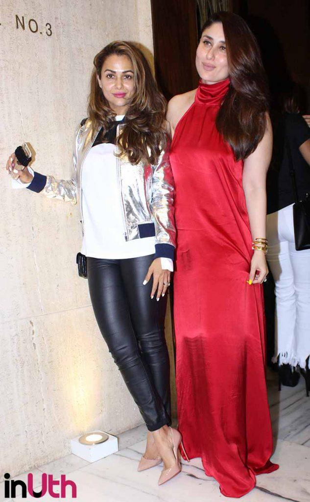 Kareena Kapoor and Amrita Arora at Manish Malhotra's party