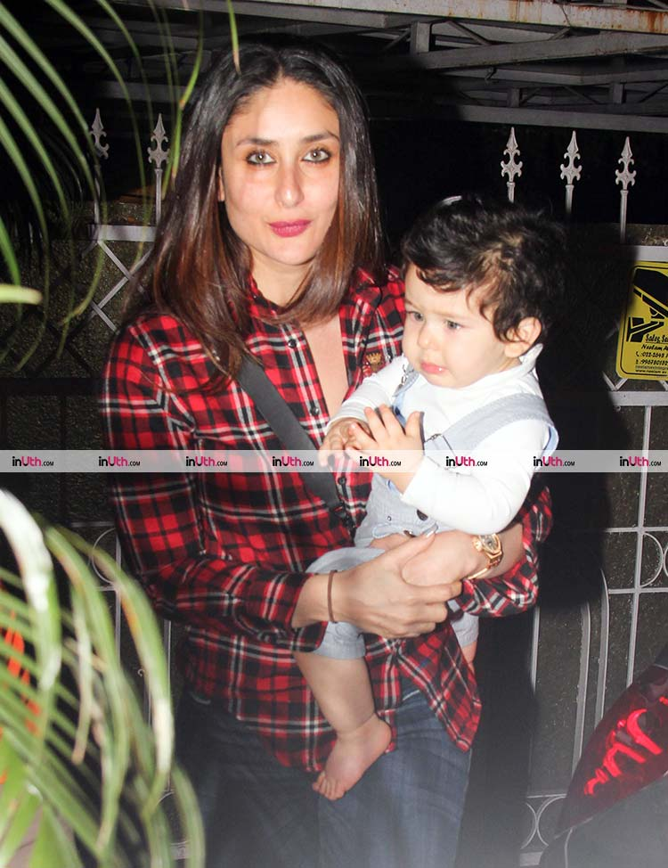 Kareena Kapoor and Taimur Ali Khan going for a night out on Tuesday