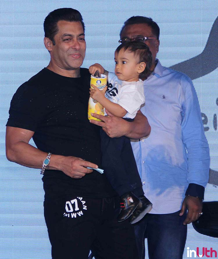 Salman Khan and Ahil at Being Human bike launch