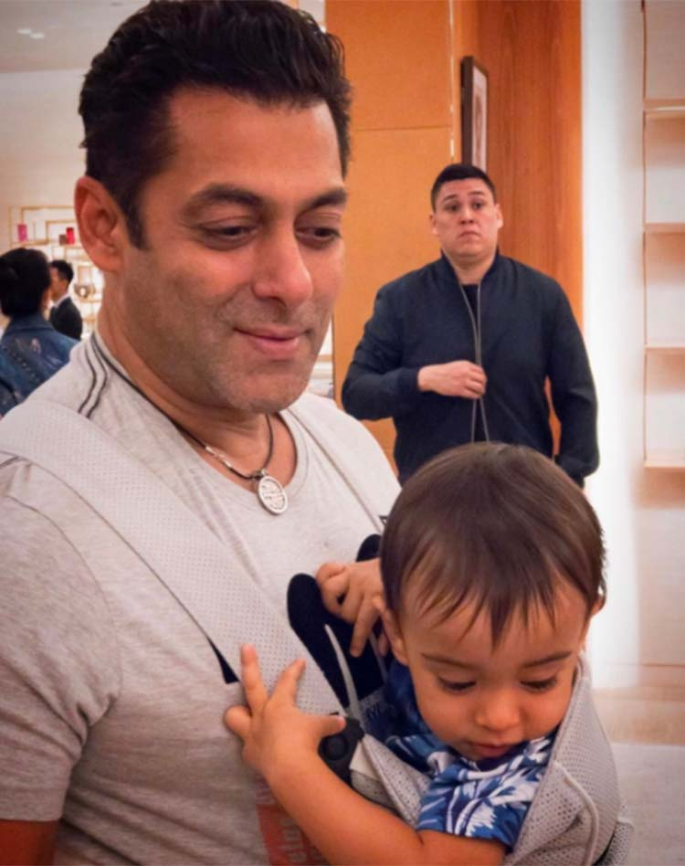 Salman Khan having some fun time with Ahil