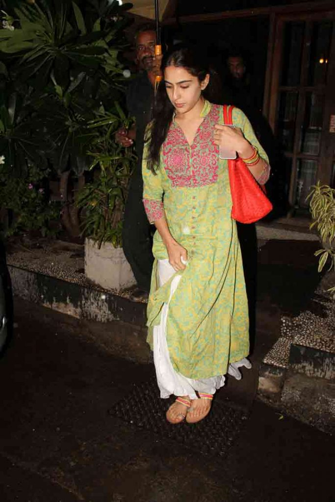 But, the girl carried herself quite well and looked beautiful. Sara will soon be commencing the shoot of her first Bollywood movie with Sushant Singh Rajput.
