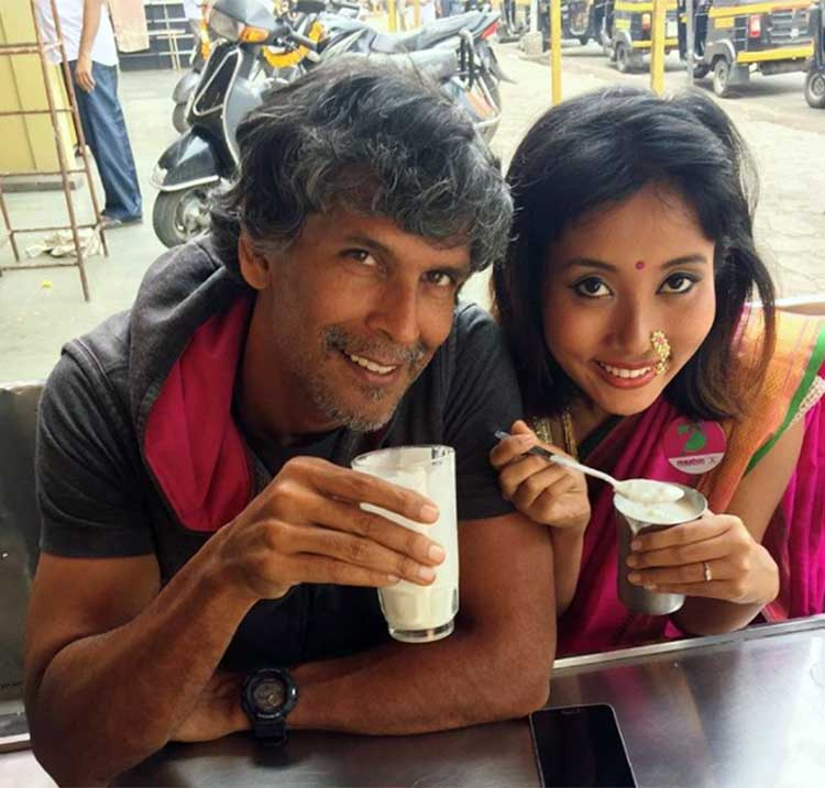 Milind Soman with his beautiful love
