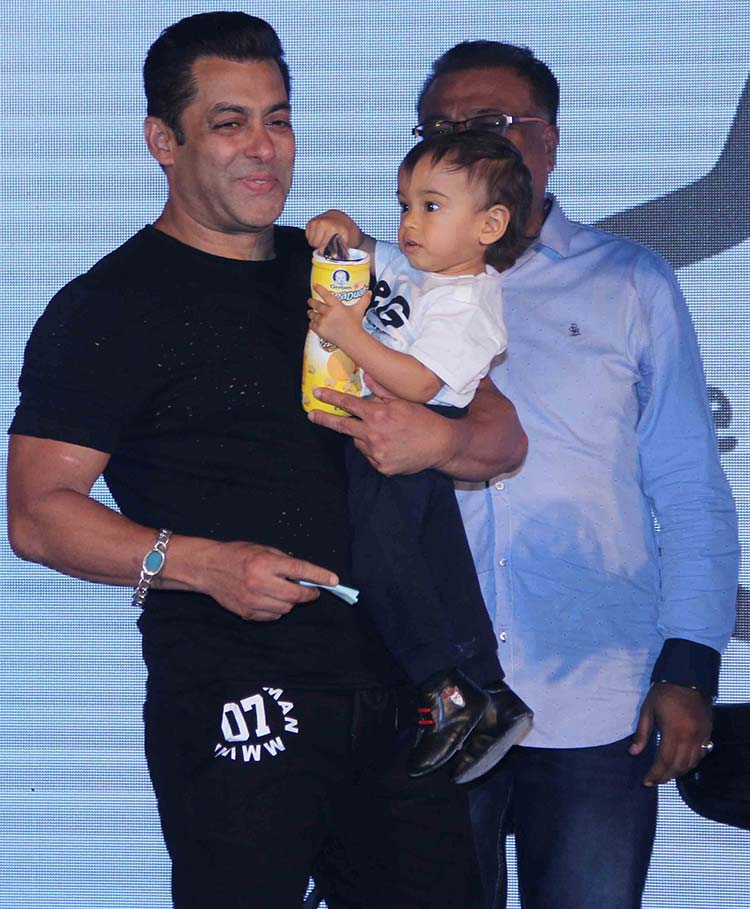Salman Khan and his nephew Ahil