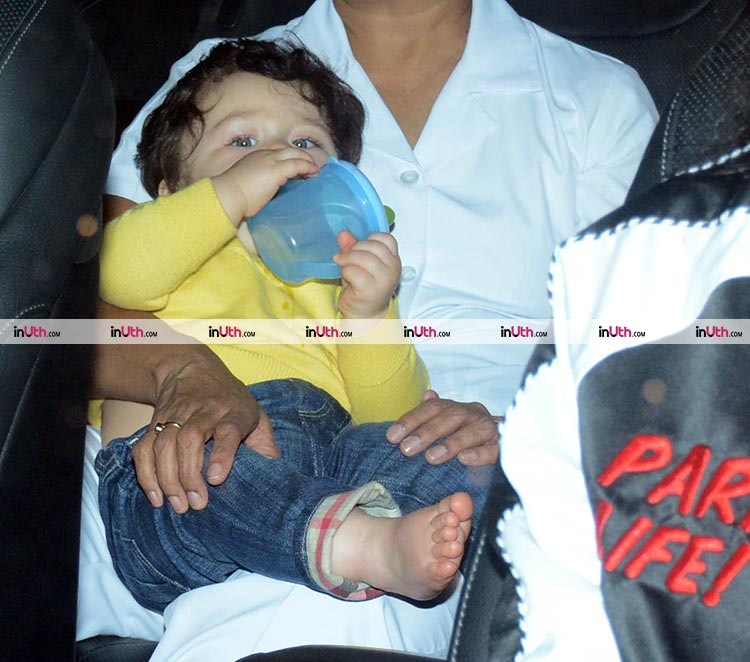 Taimur is looking super cute in his pics from Adira's birthday party