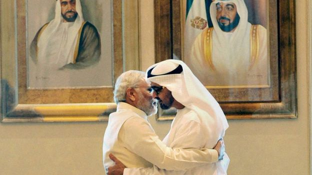 PM Modi withCrown Prince of Abu Dhabi