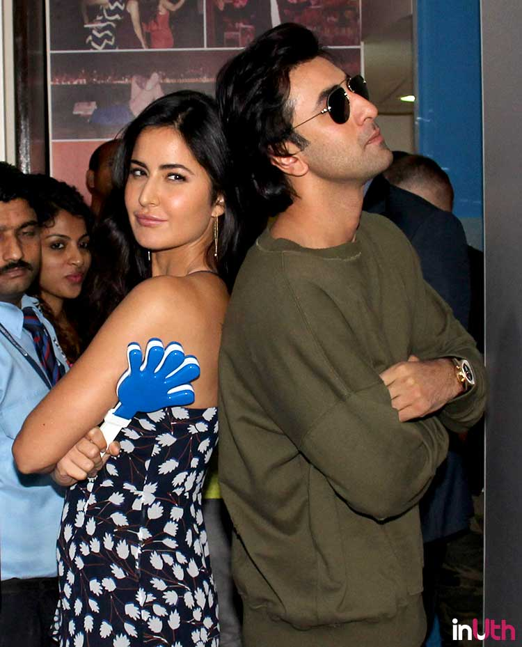 Ranbir Kapoor and Katrina Kaif in a fun pose during Jagga Jasoos promotions
