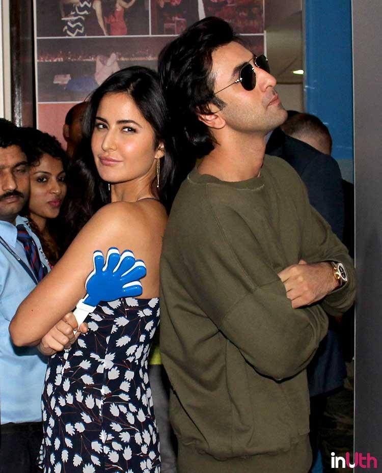Ranbir Kapoor and Katrina Kaif in a fun pose during Jagga Jasoos promotions