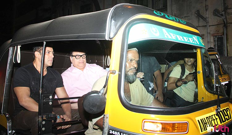 Salman Khan spotted taking an auto ride
