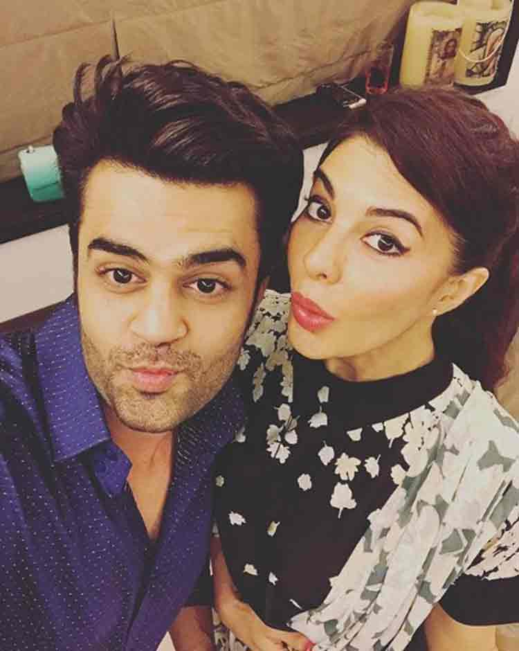 Maneish Paul with Jacqueline Fernandez at Salman Khan's Eid party
