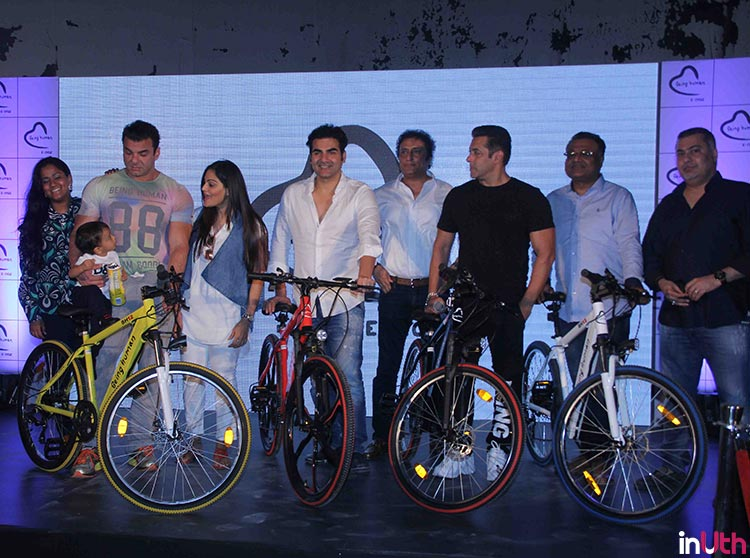 Salman Khan with his family at Being Human bike launch