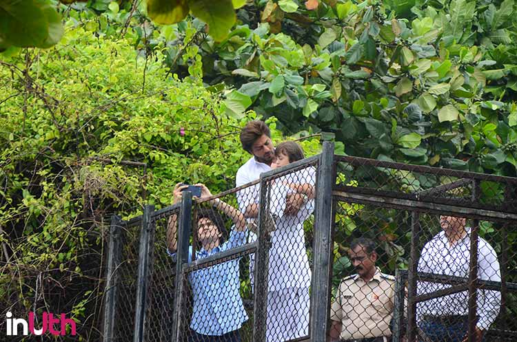 Shah Rukh Khan with AbRam on Eid
