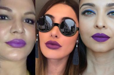 Aishwarya Rai, Nargis Fakhri or Rakhi Sawant: Who looks best in purple lipstick?
