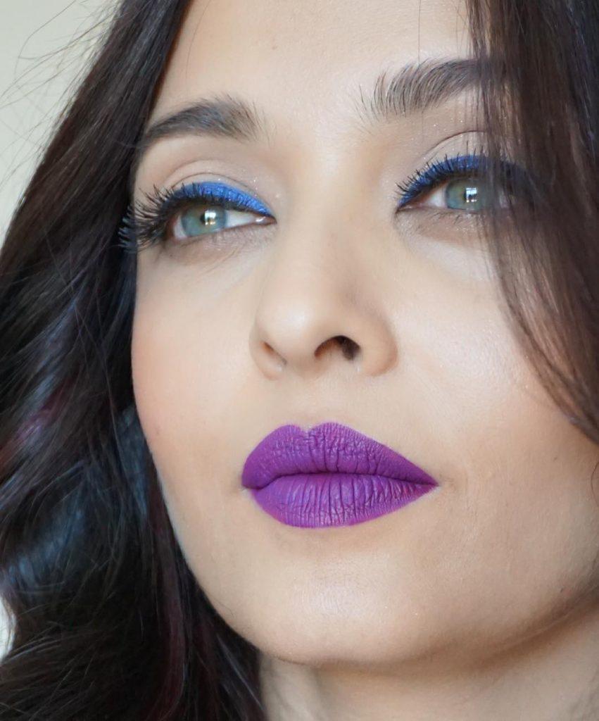 Aishwarya Rai in purple lips at Cannes