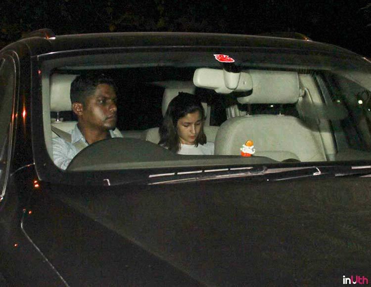 Alia Bhatt going to Sidharth Malhotra's house