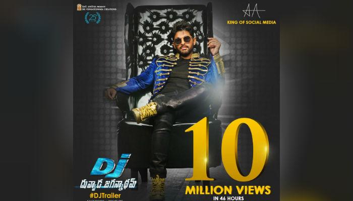 Allu Arjun DJ trailer clocks 10 million views