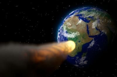 Asteroid hits the Earth