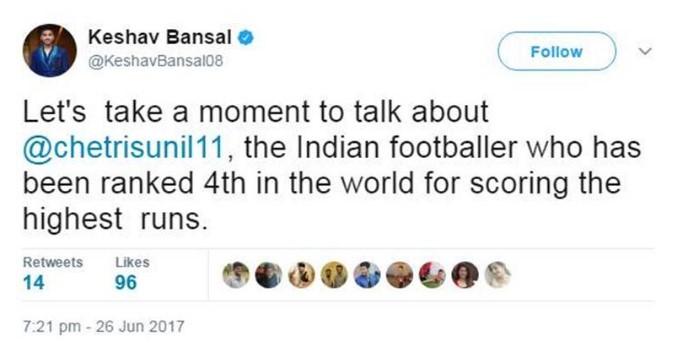 Keshav-Bansal-tweet