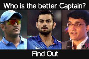 MS Dhoni, Sourav Ganguly, Virat Kohli, Indian captains