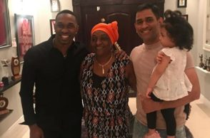 Dwayne Bravo, MS Dhoni, Ziva, Dinner