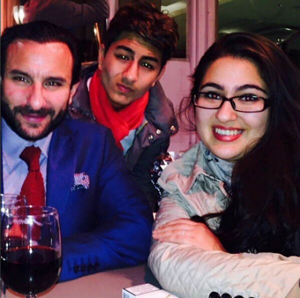 Sara Ali Khan, Saif Ali Khan and Ibrahim Khan (Courtesy: Instagram)