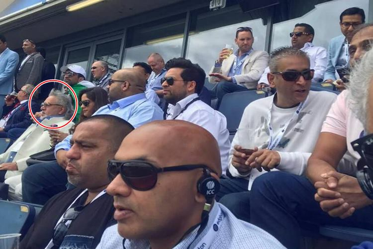 Vijay Mallya spotted at India-Pakistan Champions Trophy game in Birmingham