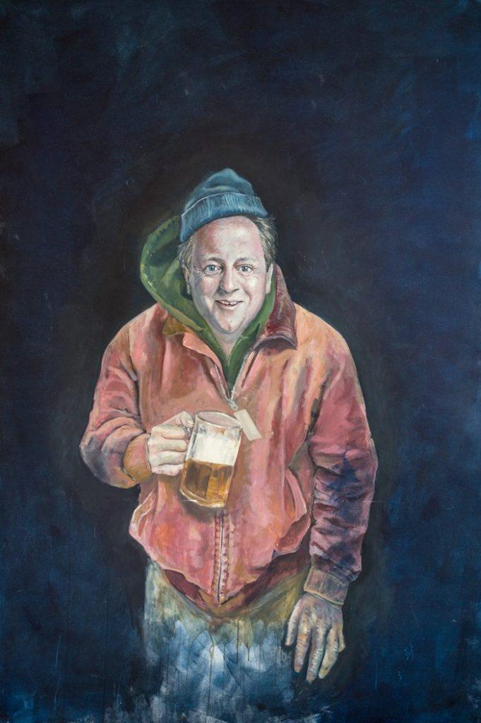David Cameron as a refugee by Abdalla Al Omari