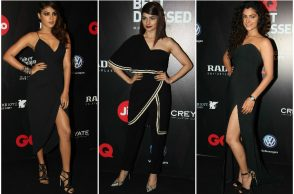 Rhea Chakraborty, Prachi Desai and Saiyami Kher at the GQ Best Dressed Awards 2017