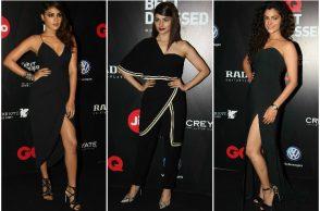 Rhea Chakraborty, Prachi Desai and Saiyami Kher at the GQ Best Dressed Awards 2017