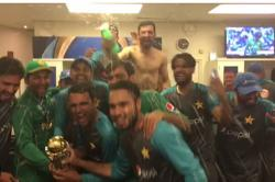 India vs Pakistan Final: Pakistan's victory dance in dressing room, Junaid Khan's shirtless celebration [Watch Video]