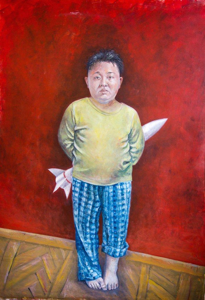 Kim Jong-Un as a refugee by Abdalla Al Omari