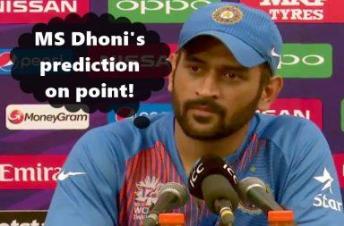 MS Dhoni, Post match press conference, India vs Pakistan
