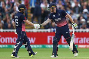 Ben Stokes, Eoin Morgan, England vs Australia, ICC Champions Trophy 2017
