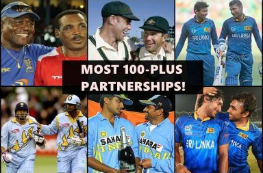 Most 100 plus partnerships in the history of cricket