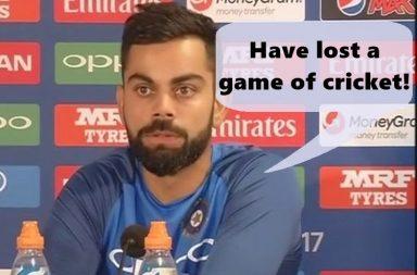 India vs Pakistan, ICC Champions Trophy 2017 final, Virat Kohli