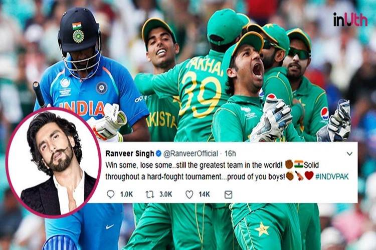 Bollywood celebs reacts on India vs Pakistan ICC Champions Trophy 2017
