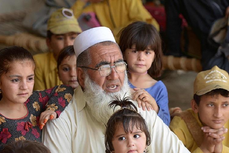 Pakistani father Gulzar Khan, 57, who has 36 children. (AFP Photo)