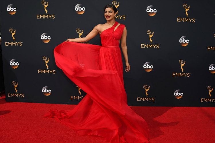 Priyanka Chopra, Emmys, Red Dress