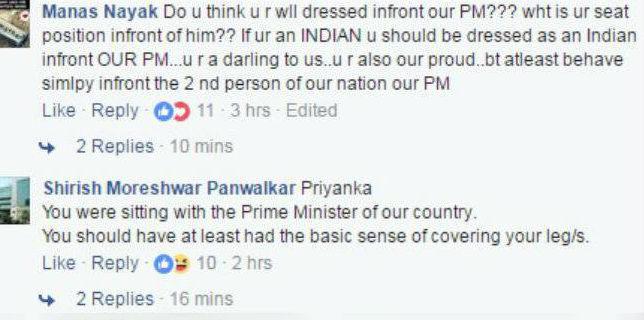 Priyanka Chopra Skirt trolled